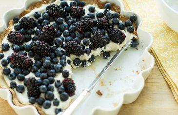 Tarta z mascarpone i borówkami